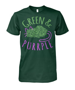 Green & Purrple Cat Tee