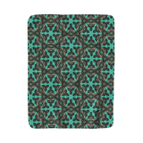 Crazy Shapes Mint Fleece Blanket