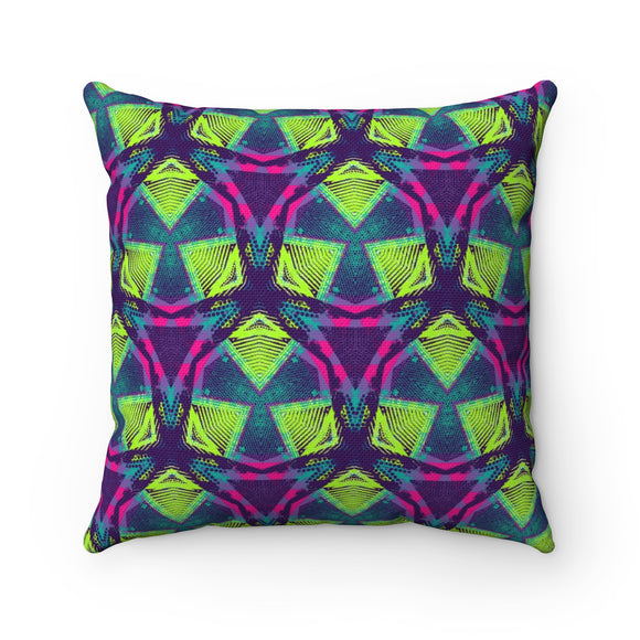 Crazy Shapes Square Pillow