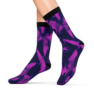 Purp & Blac Abstract Socks