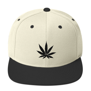 Natural & Black Snapback Hat