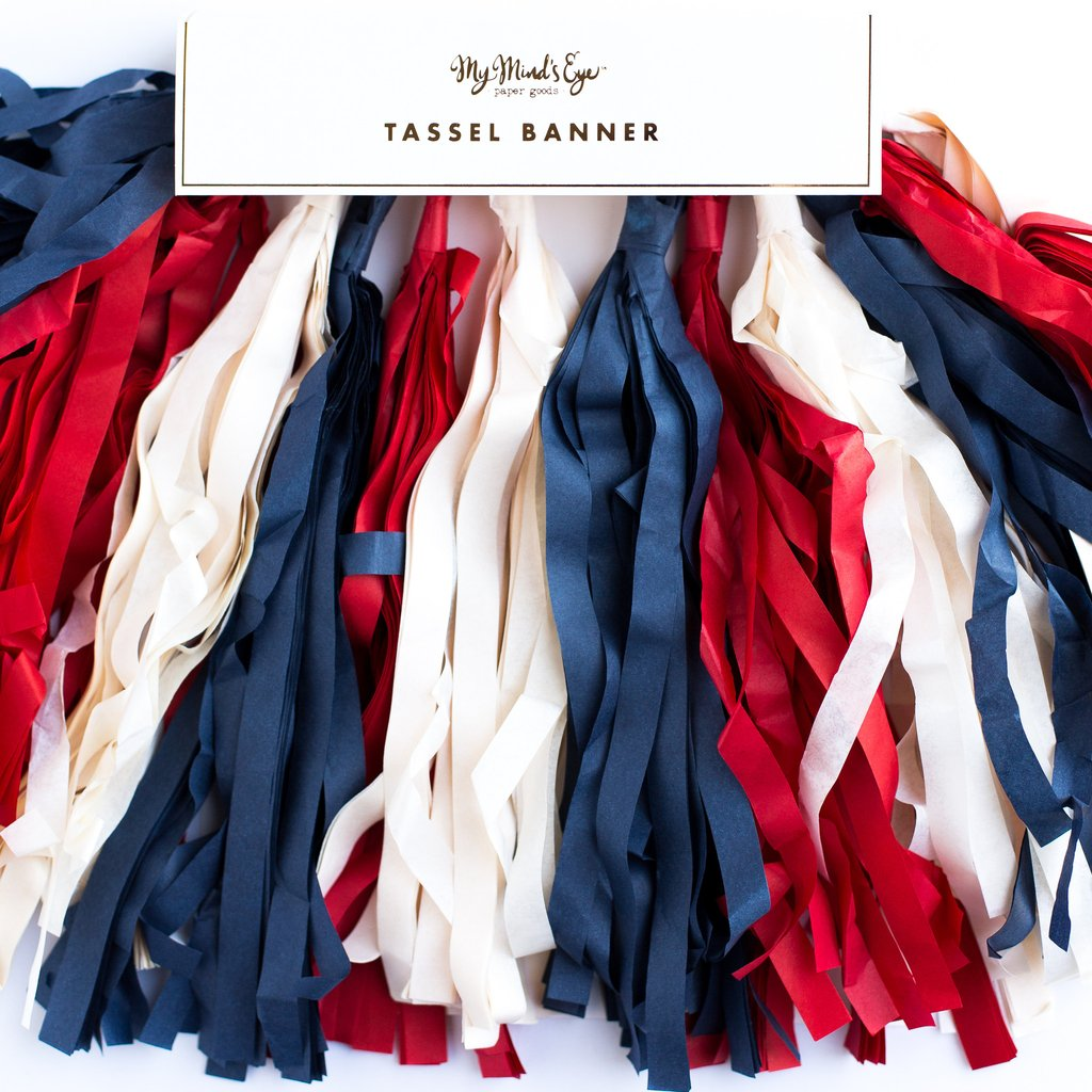 Red White & Blue Tassel Banner