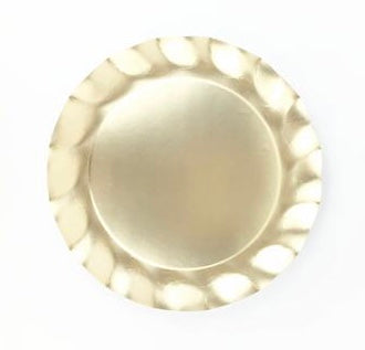 Satin Gold Ruffle Charger Plates
