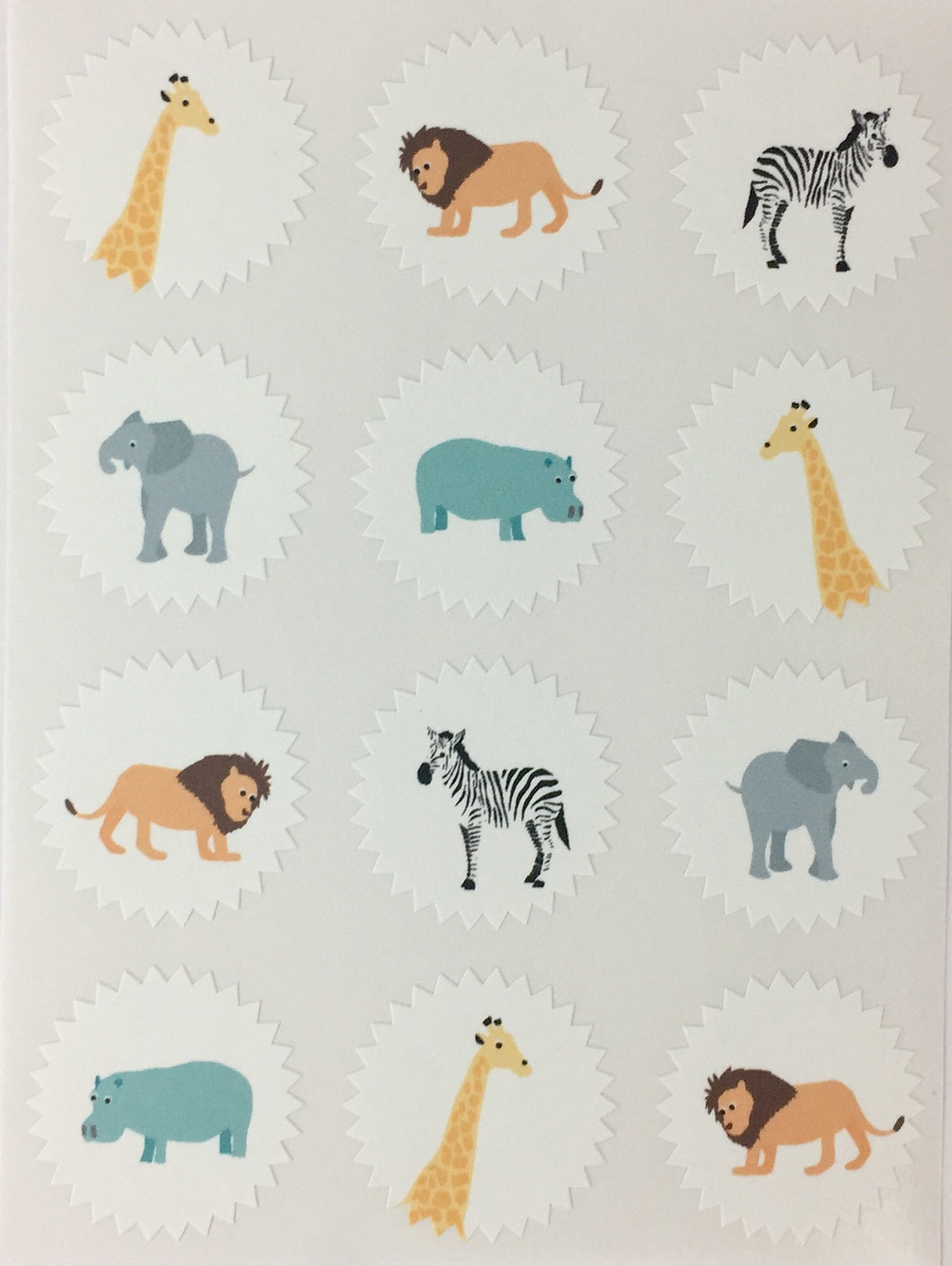 Safari Starburst Mini Stickers
