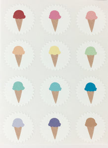 Ice Cream Cone Mini Stickers
