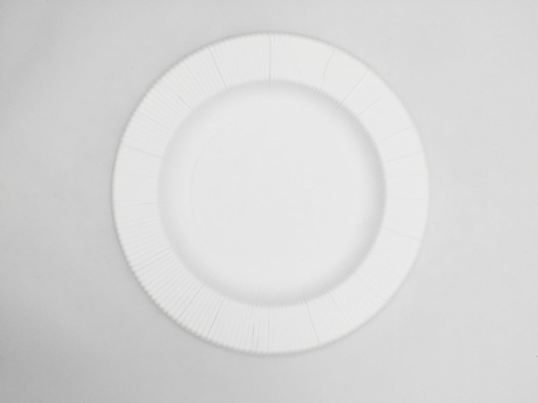 Ivory Righe Salad Plates