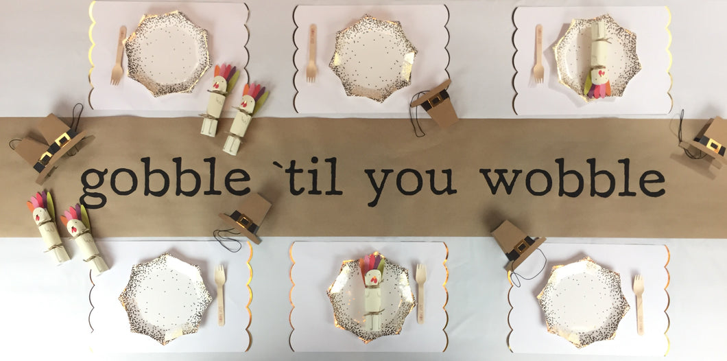Gobble 'til you Wobble Table Runner