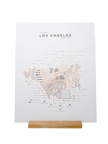 Los Angeles Wall Art Map