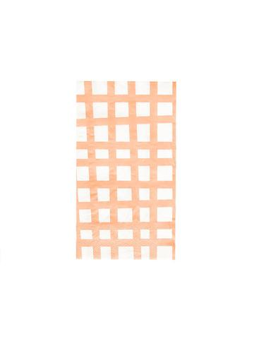 Peach Grid Napkins