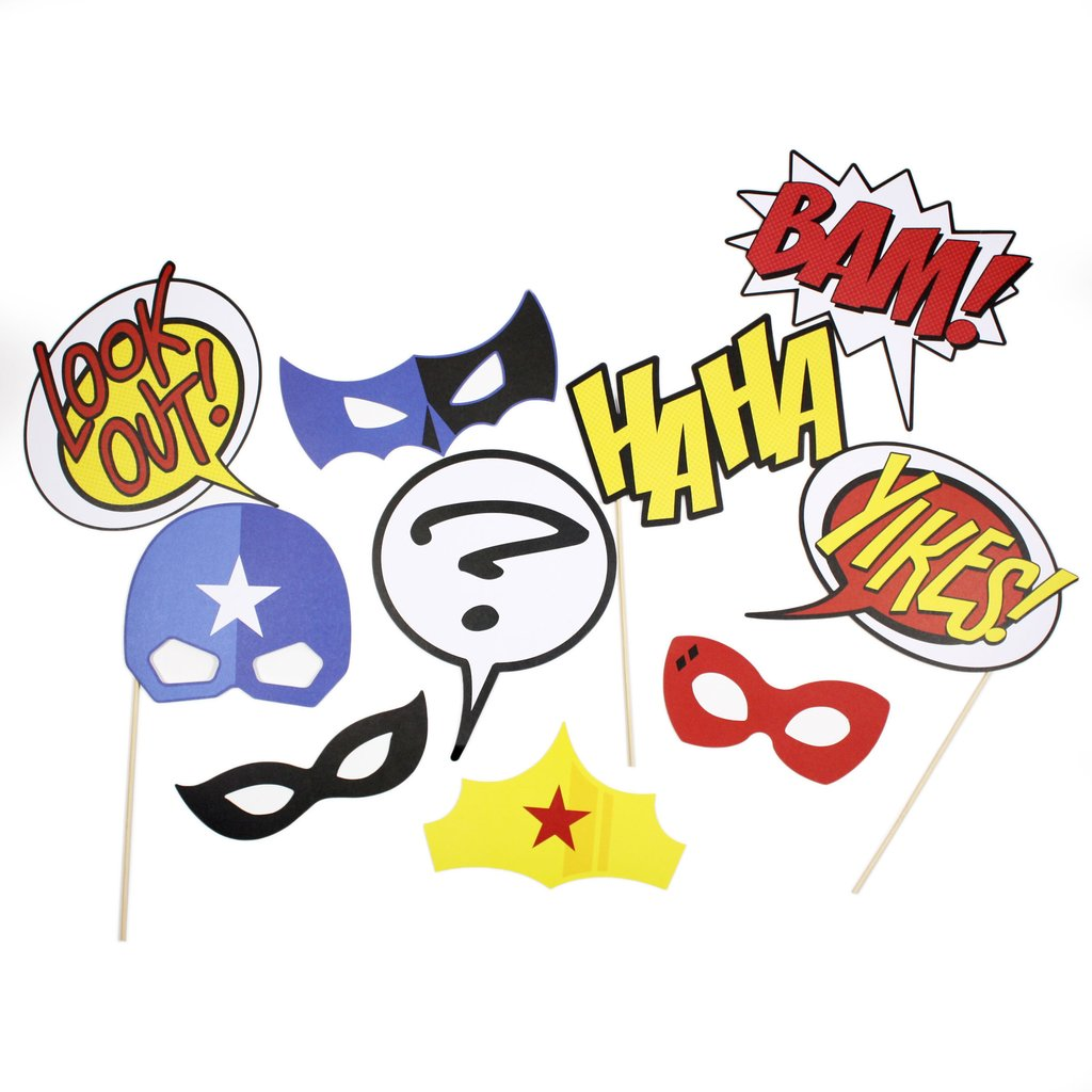 Super Hero Photo Prop Kit