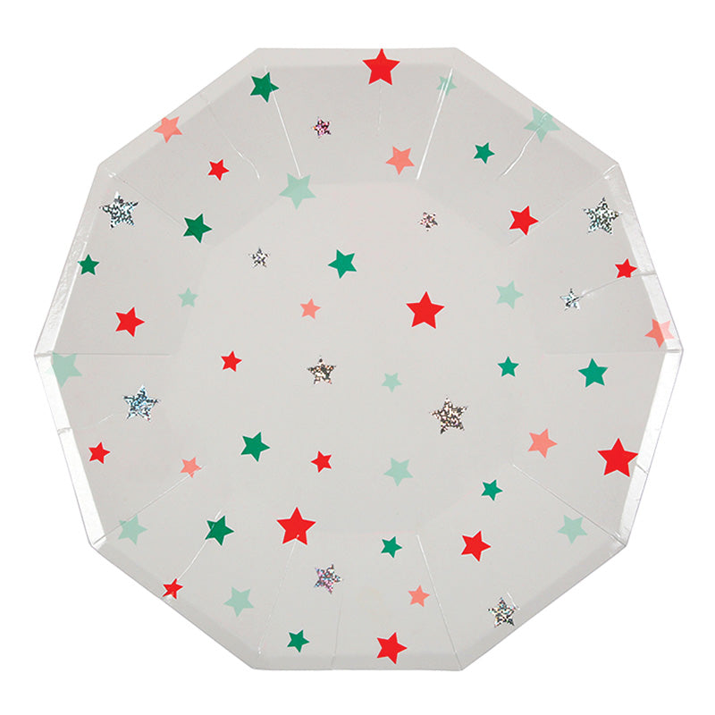 Star Pattern Large Plate