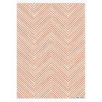 Coral Neon Chevron Wrapping Paper Sheets