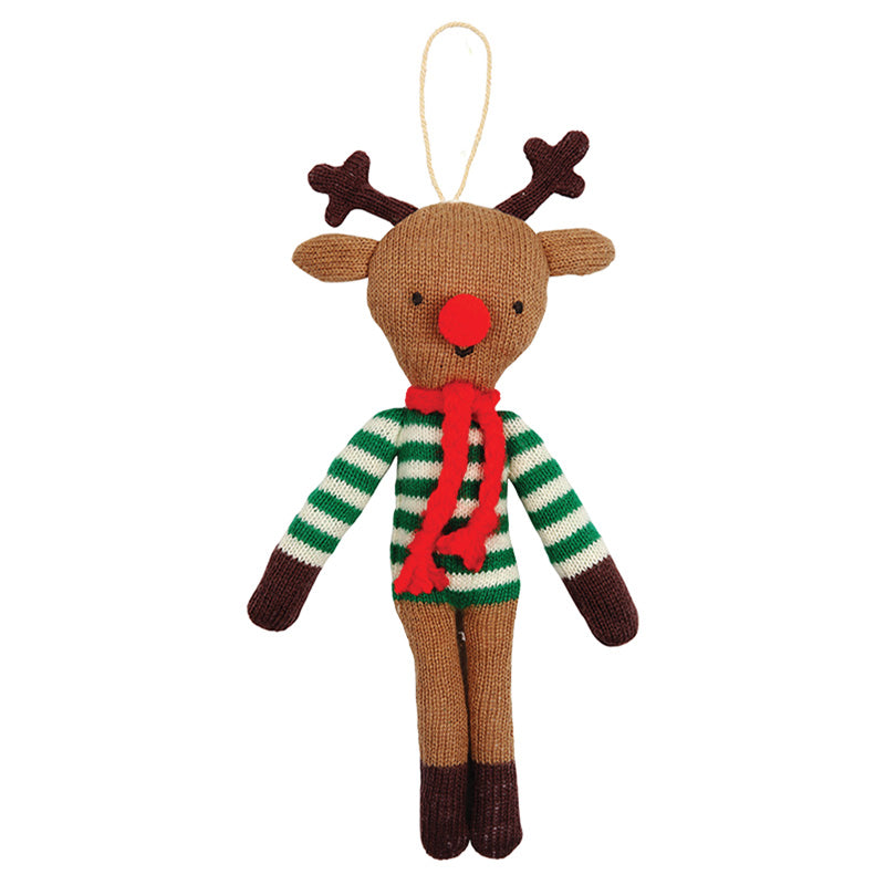 Knitted Reindeer Ornament