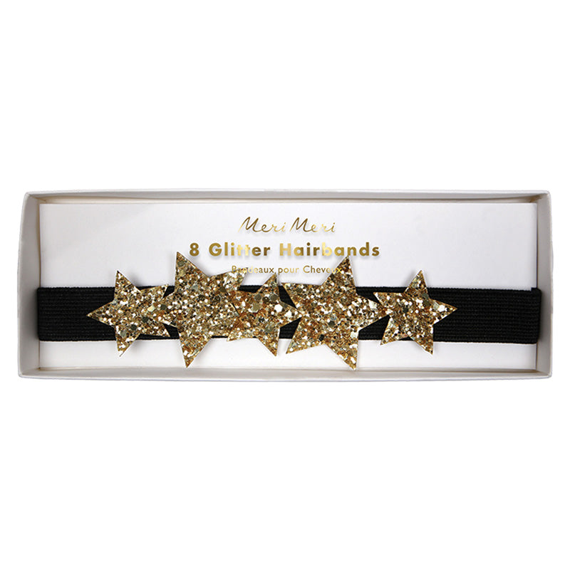 Gold Star Glitter Headbands