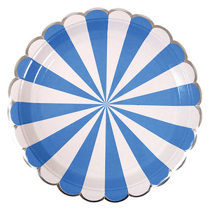 Blue & White Striped Plates