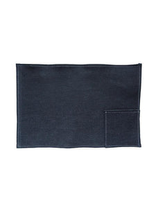 Denim Placemat With Pocket