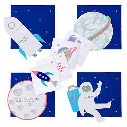 Outer Space Valentine's Day Boxed Cards