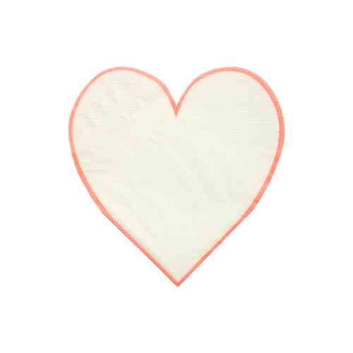 Coral heart napkins
