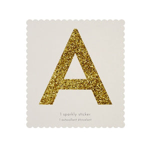 Chunky gold letter stickers