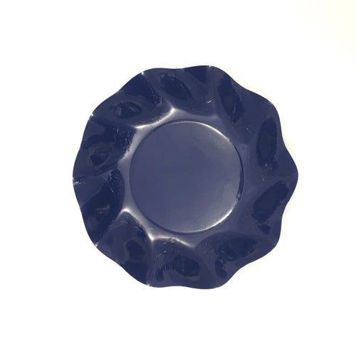Navy Ruffle Dinner Plates