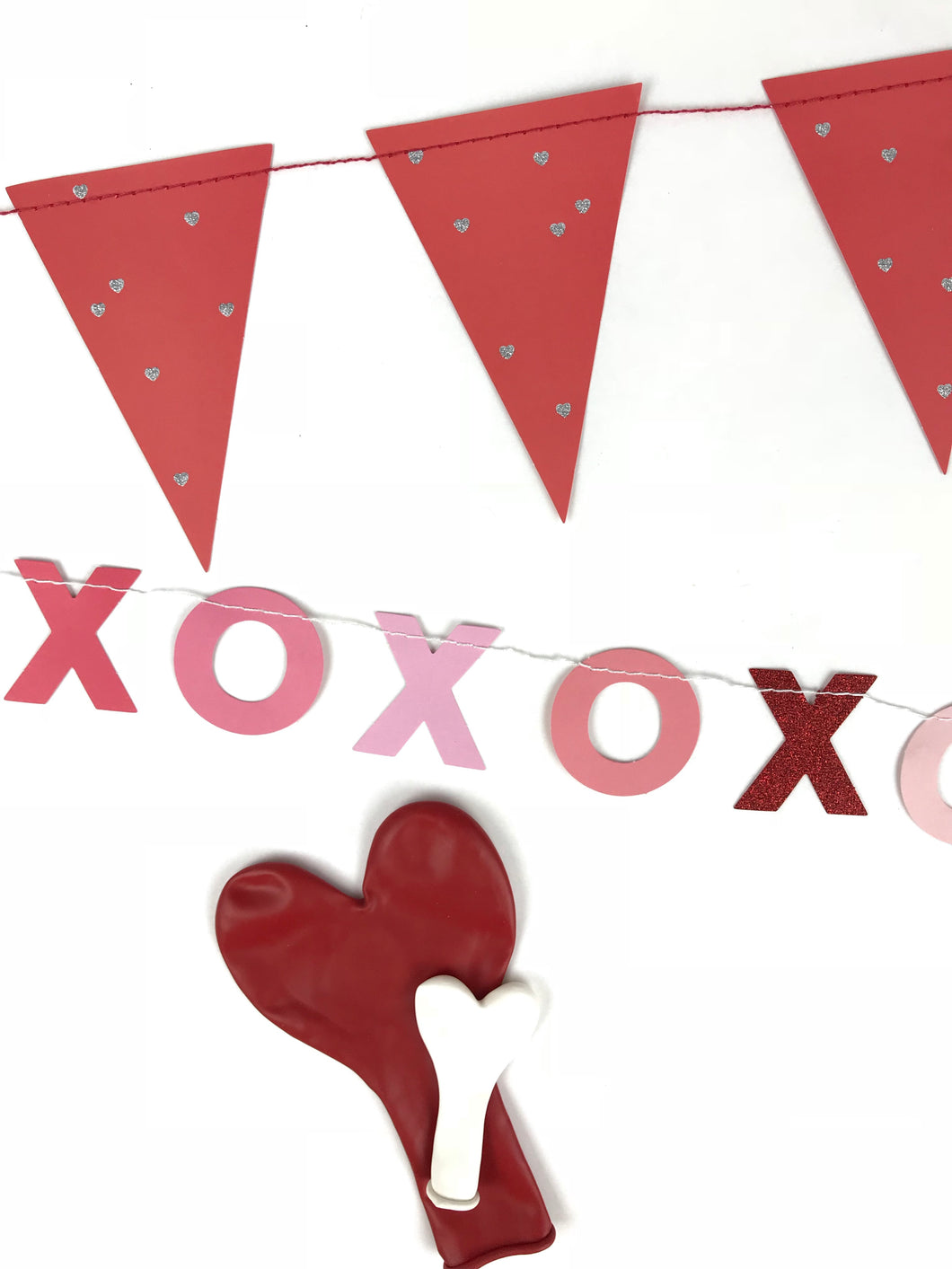 XOXO and pennant banner