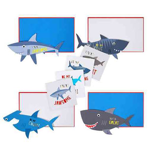 Shark Valentine's Day Boxed Cards