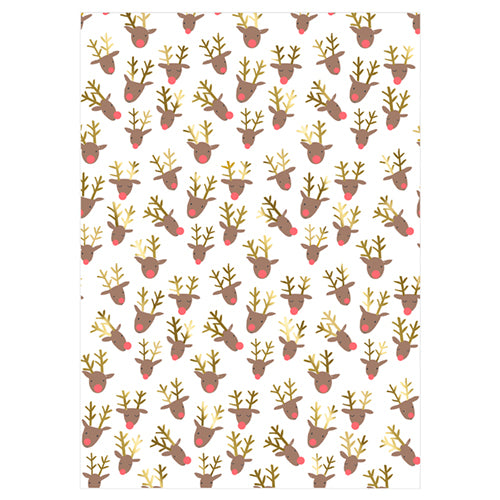 Reindeer Gift Wrap Roll