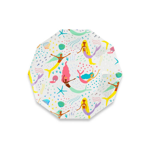 Under the Sea Plates - Mermaid