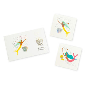 Under the Sea Temporary Tattoos - Mermaid