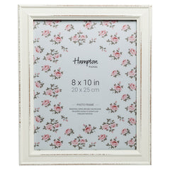 8x10 inches Hampton white shabby chic frame available on Amazon