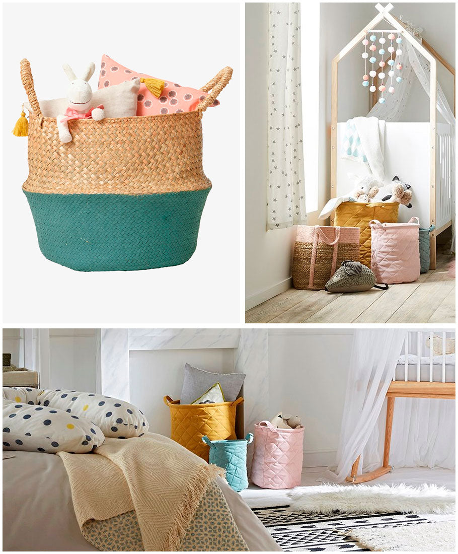 Cute and colourful storage baskets by Vertbaudet