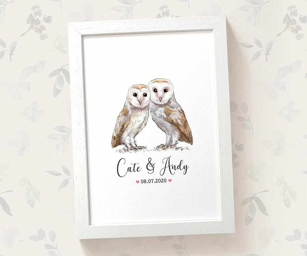 Owl wedding name sign