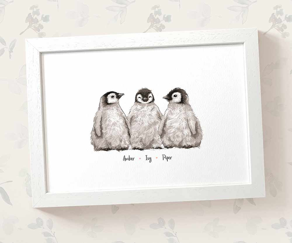Penguin triplets name print