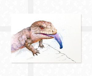 Blue Tongue Skink Wall Art Print