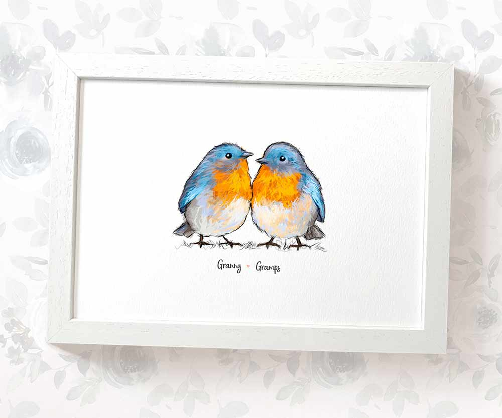 Bluebird print for grandparents