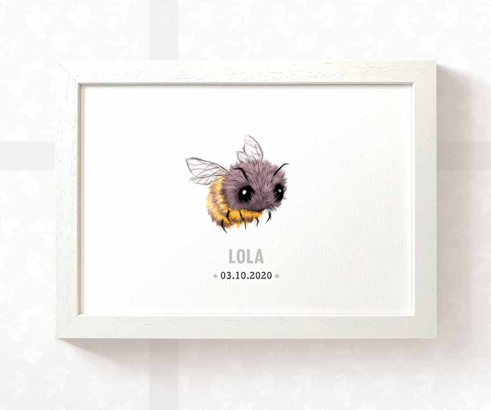 Bumble Bee baby name and date sign