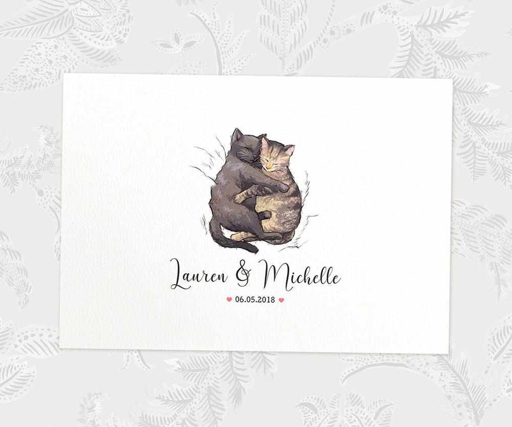 Kittens wedding name sign