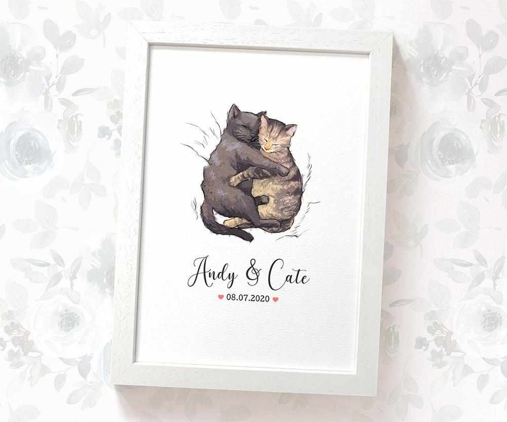 Cats wedding name sign