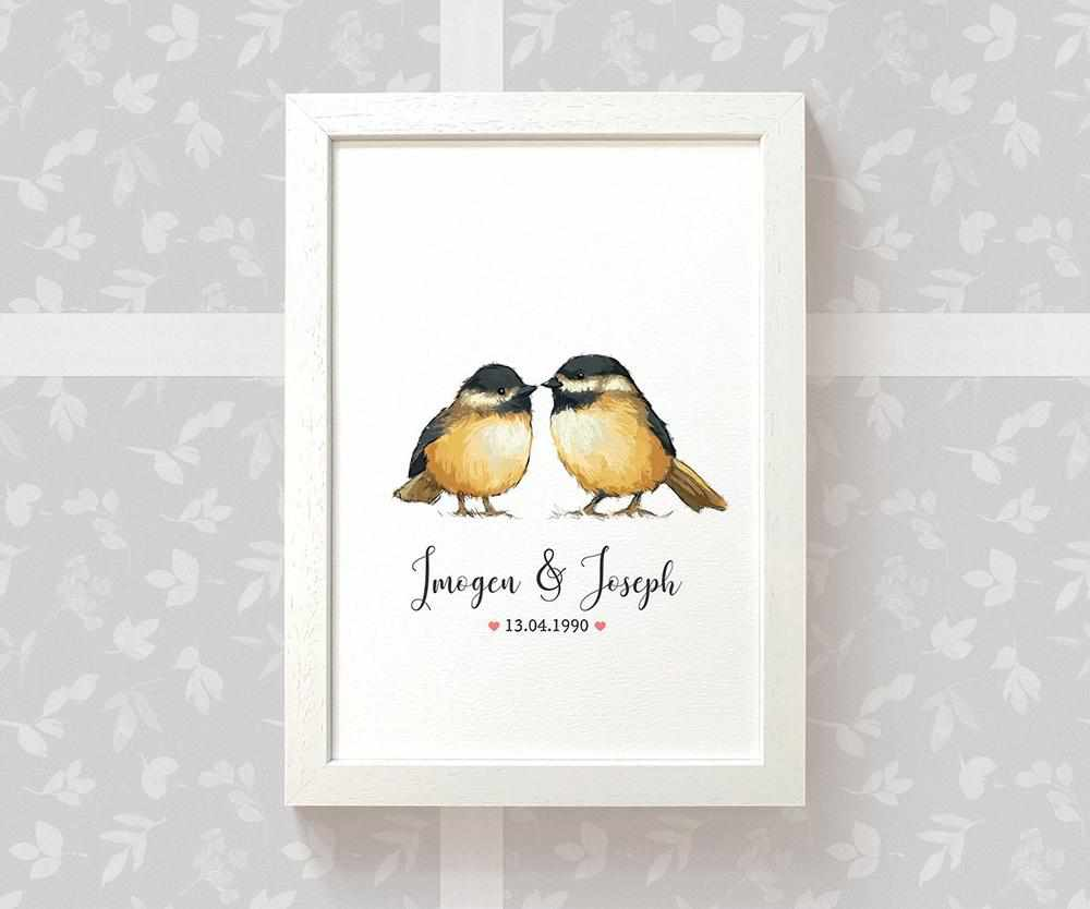Chickadee wedding name sign