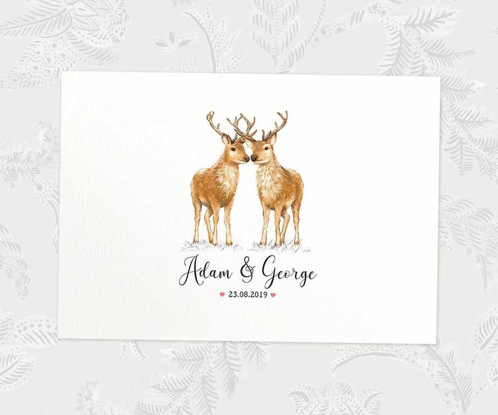 Personalised stag anniversary print