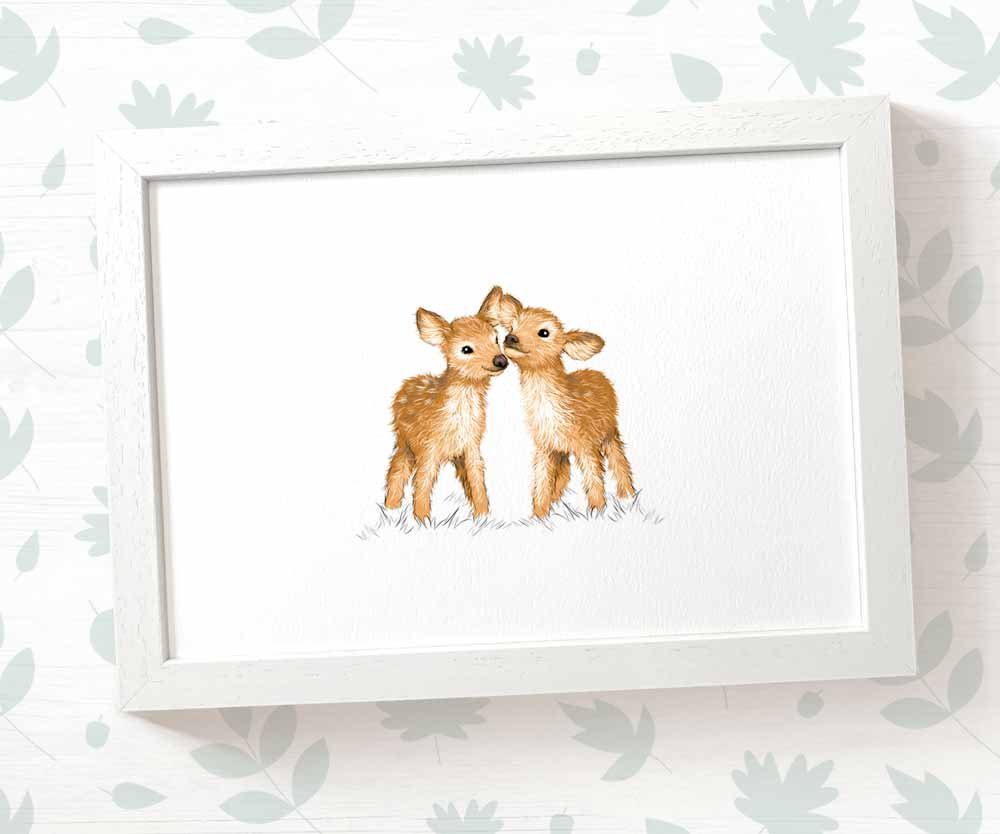 deer nursery wall art