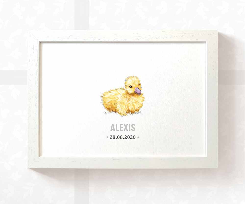 Duck nursery print with names