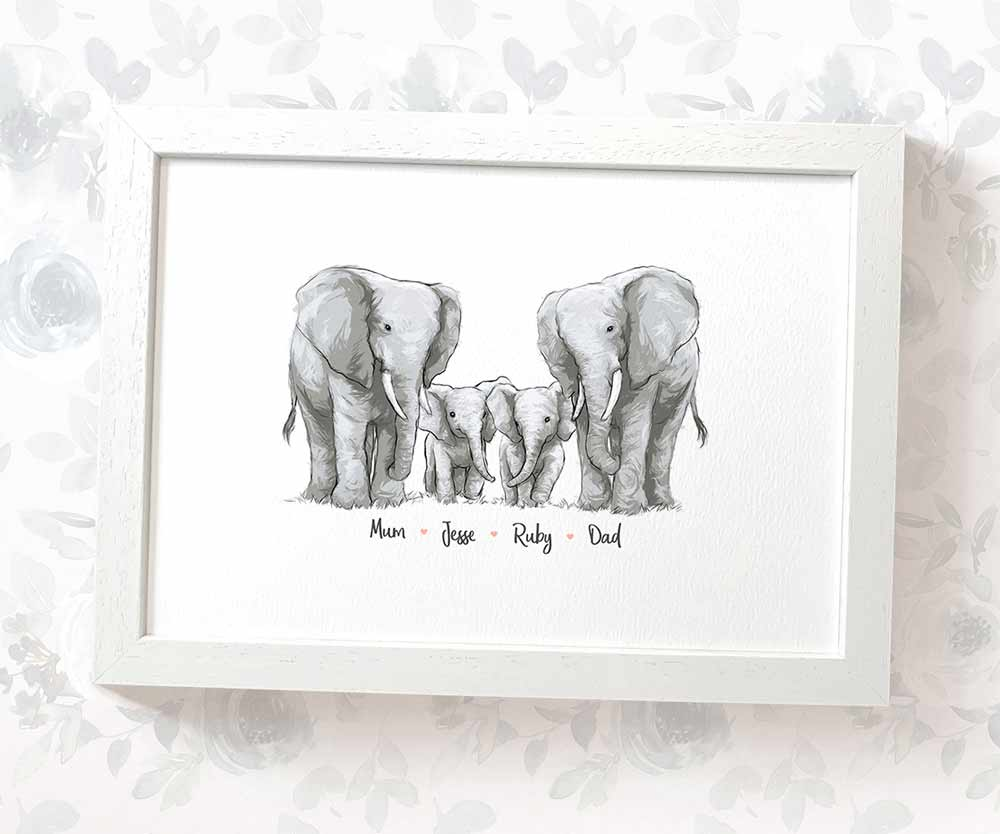 Elephant Framed Family Print