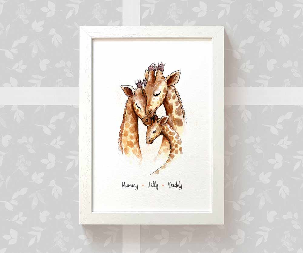 Giraffe Framed Family Print