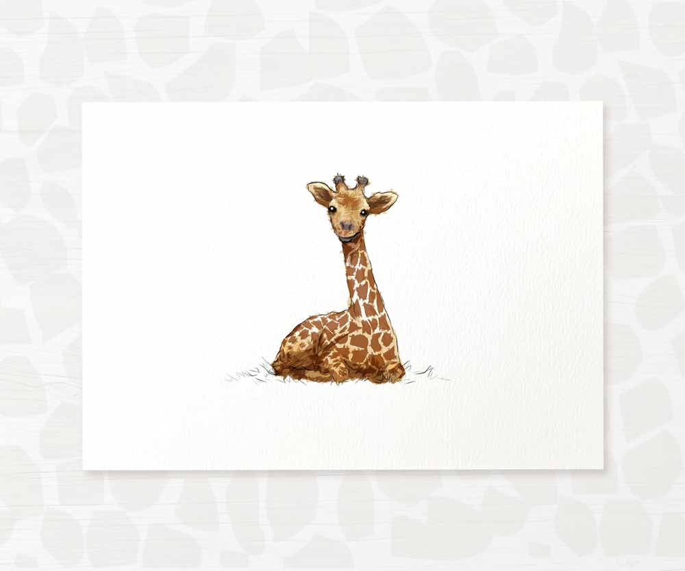 Giraffe safari animal wall art