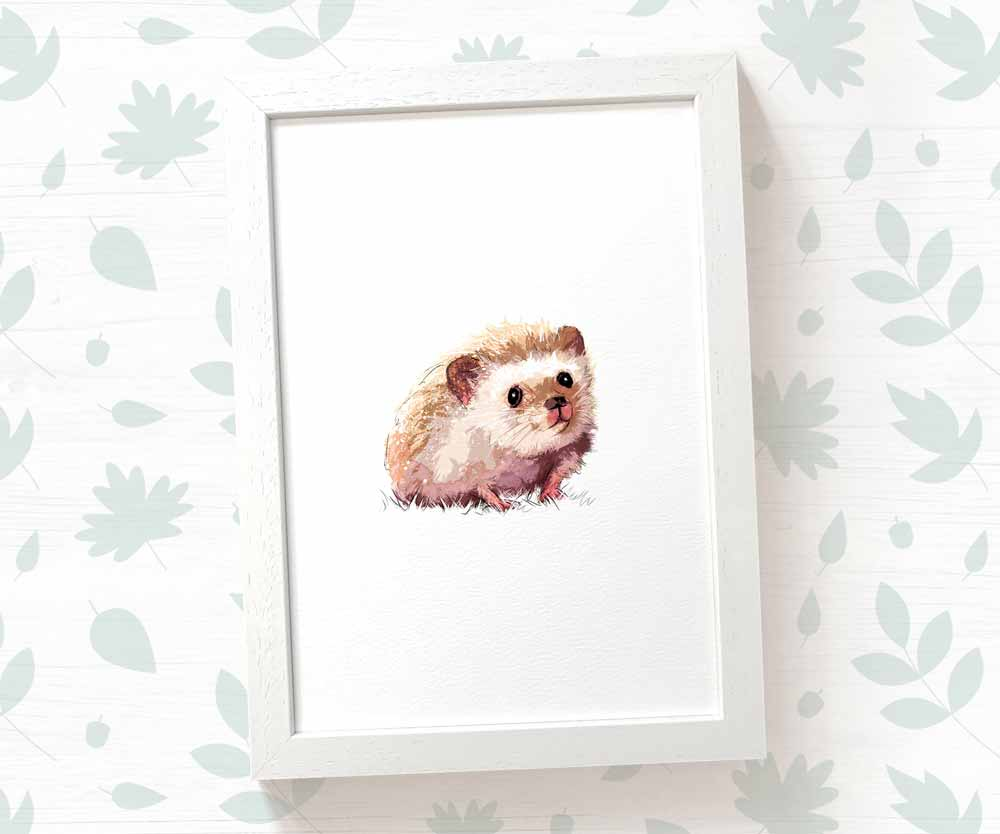 Hedgehog nursery print