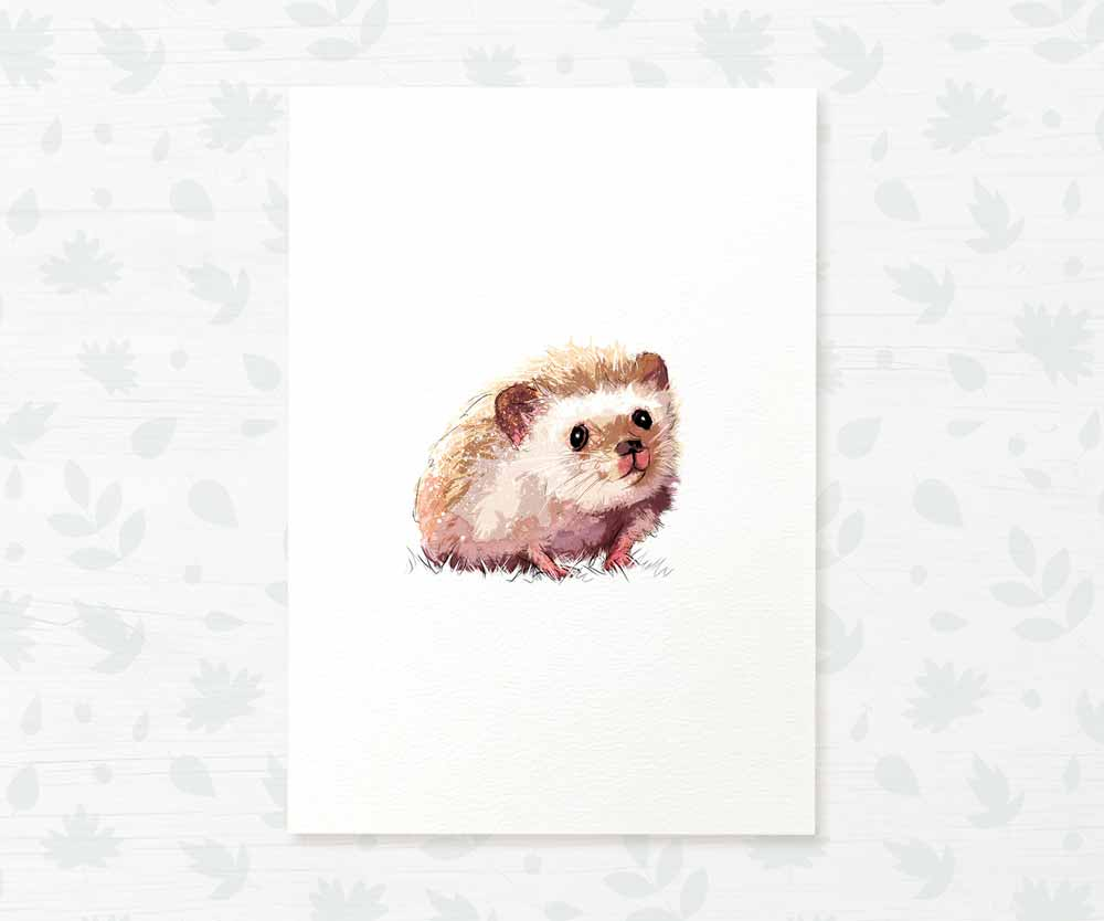 Baby Hedgehog nursery print