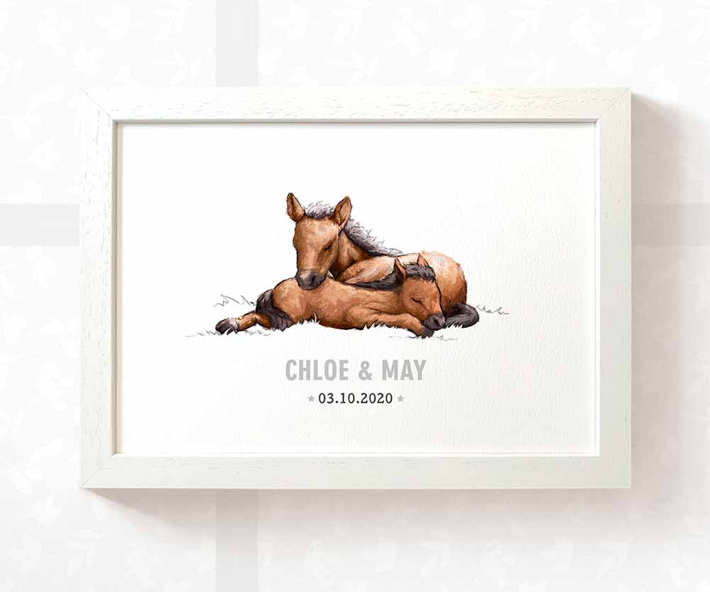 Horse twin baby name date of birth print