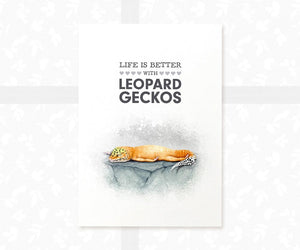 Leopard Gecko Lizard Decor