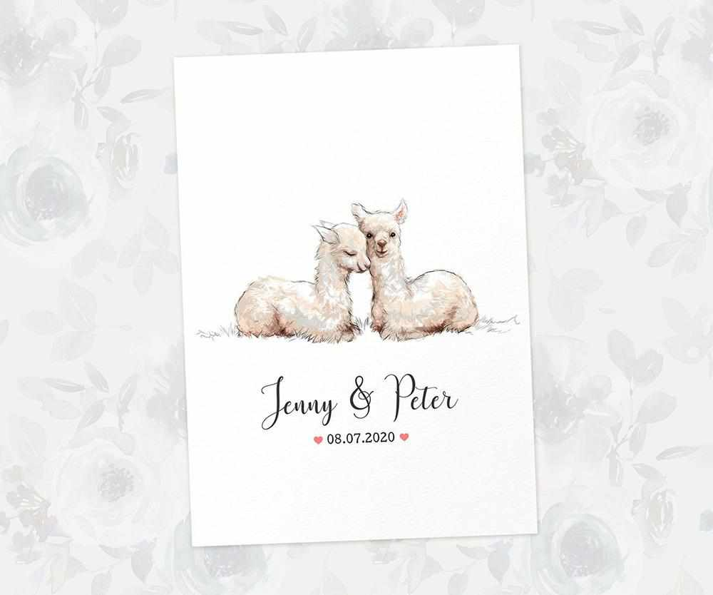 Llama farmhouse wedding name sign